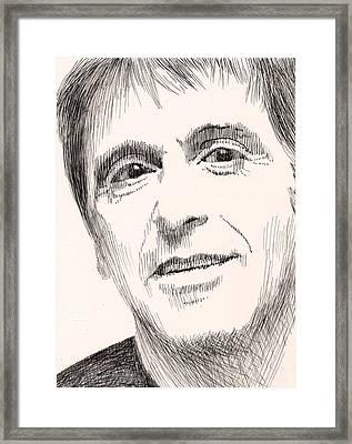Al Pacino Framed Print by Robbi  Musser