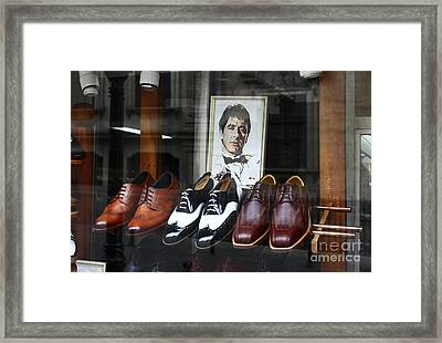 Al Pacino's Designer Shoe Collection Framed Print by James Brunker