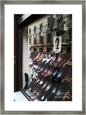Al Pacino's Shoe Collection Framed Print by James Brunker