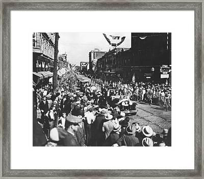 Al Smith Presidential Campaign Framed Print by Underwood Archives