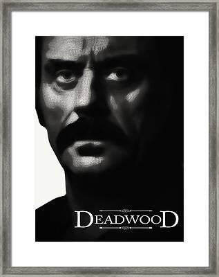 Al Swearengen - Gem Saloon Owner - Deadwood Framed Print by Daniel Hagerman