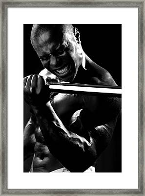 Al Work Out Black And White 2 Framed Print