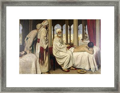 Al-zahwari Blistering A Patient, 10th Framed Print by Wellcome Images