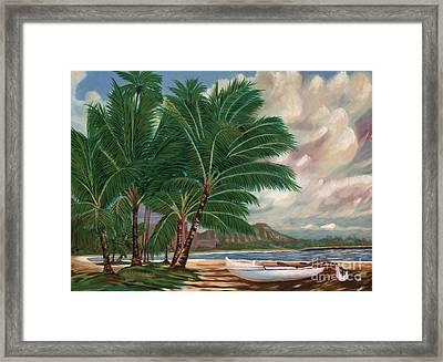 ala moana beach II Framed Print