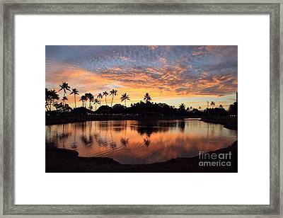 Ala Moana Sunset Framed Print by DJ Florek