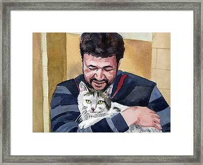Alaa And Samson Framed Print