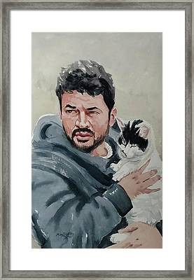 Alaa With Zorro Framed Print