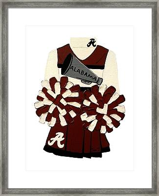 Alabama Cheerleader Framed Print