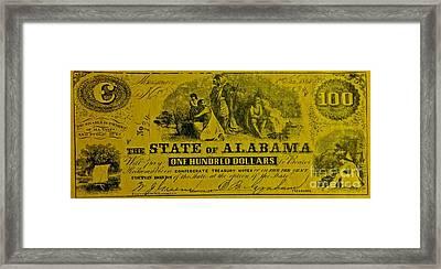 Alabama Confederacy Framed Print by Pd