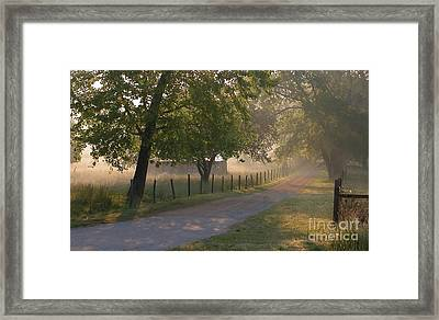 Alabama Country Road Framed Print by Don F  Bradford