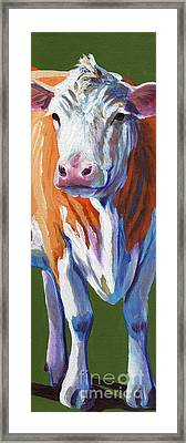 Alabama Cow Framed Print by Pat Burns