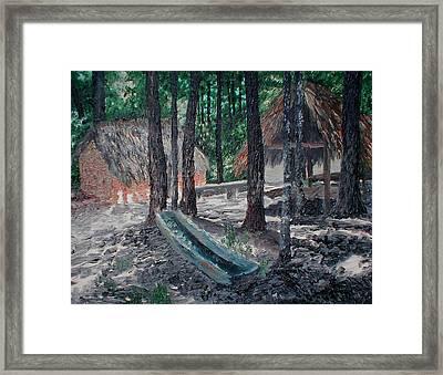 Alabama Creek Indian Village Framed Print by Beth Parrish