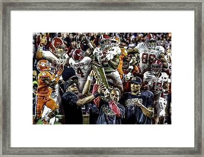 Alabama Crimson Tide 2 Ncaa 2015 National Champions College Football Framed Print