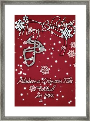 Alabama Crimson Tide Christmas Card 2 Framed Print by Joe Hamilton