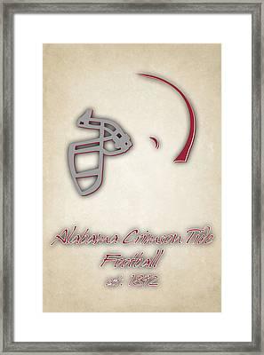 Alabama Crimson Tide Helmet 2 Framed Print