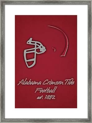 Alabama Crimson Tide Helmet Framed Print