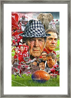Alabama Crimson Tide Framed Print by Mark Spears