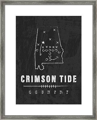 Alabama Crimson Tide / Ncaa College Football Art / Tuscaloosa Framed Print