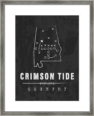 Alabama Crimson Tide / Ncaa College Football Art / Tuscaloosa Framed Print by Damon Gray