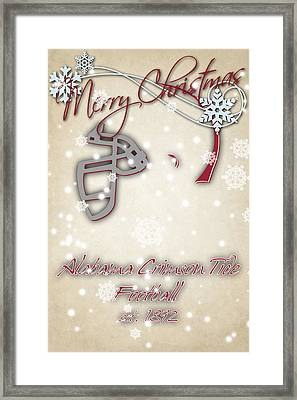 Alabama Cromson Tide Christmas Card Framed Print