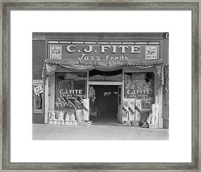 Alabama Feed Store Front, Sign Reads C Framed Print by Everett