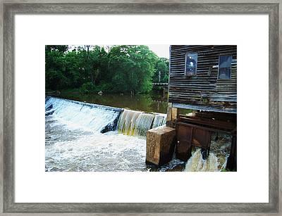 Alabama Grist Mill Dam Framed Print by Beverly Hammond