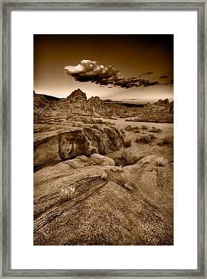 Alabama Hills California B W Framed Print by Steve Gadomski