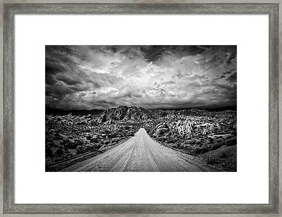 Alabama Hills California Framed Print by Peter Tellone