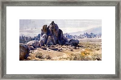 Alabama Hills Framed Print by Donald Maier