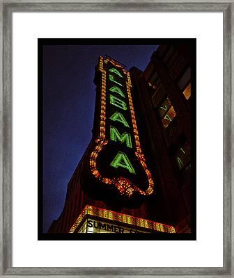 Alabama Lights Poster Framed Print