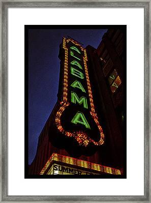 Alabama Lights Poster Narrow Format Framed Print