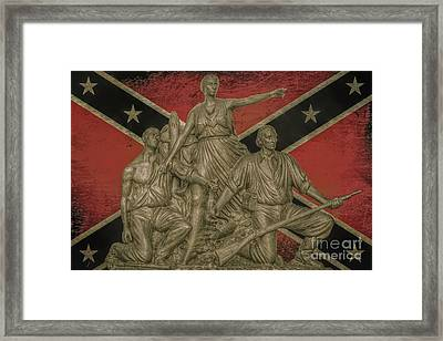 Alabama Monument Confederate Flag Framed Print
