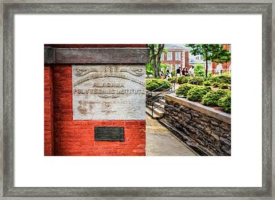 Alabama Polytechnic Institute Framed Print by JC Findley