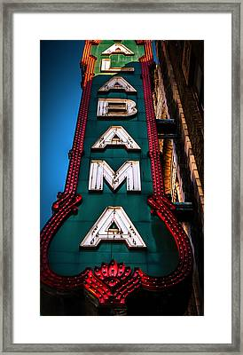 Alabama Theater Sign 1 Framed Print by Phillip Burrow