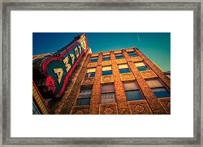 Alabama Theater Sign 2 Framed Print by Phillip Burrow