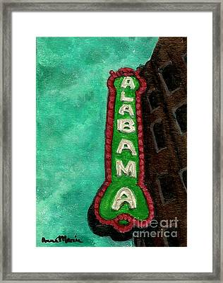 Alabama Theatre Framed Print by AnnaMarie Armstrong