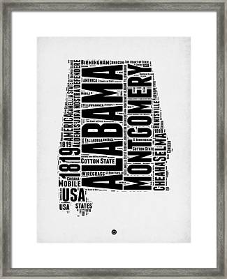Alabama Word Cloud 2 Framed Print
