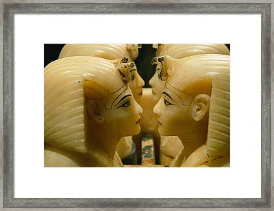 Alabaster Carvings Found In The Tomb Framed Print by Kenneth Garrett
