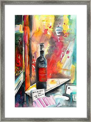 Alabastro Wine From Italy Framed Print by Miki De Goodaboom