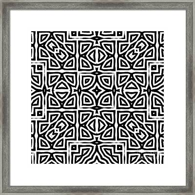 Alhambra Black Framed Print by Mindy Sommers