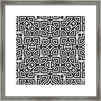 Alhambra Black Framed Print