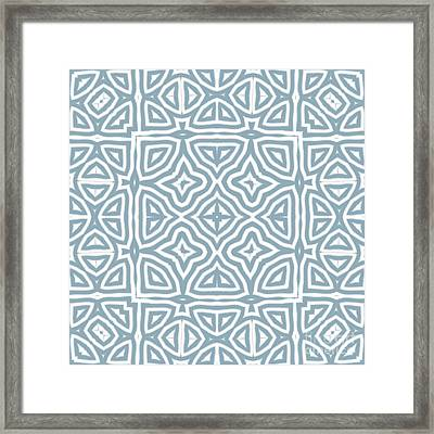 Alahambra Blue Framed Print by Mindy Sommers