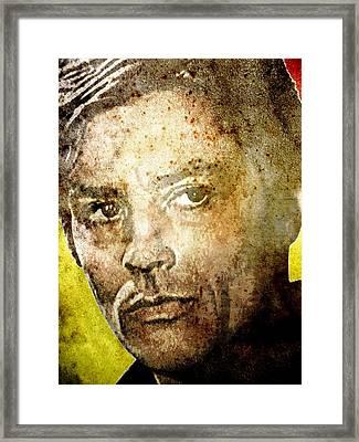 Alain Delon Framed Print by Otis Porritt