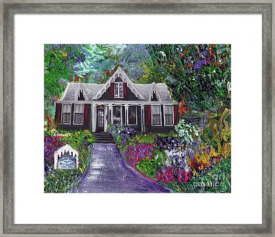 Alameda 1854 Gothic Revival - The Webster House Framed Print by Linda Weinstock