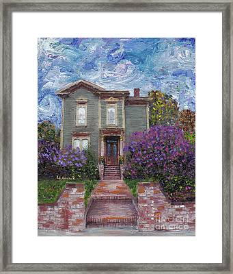 Alameda 1888 - Italianate Framed Print by Linda Weinstock
