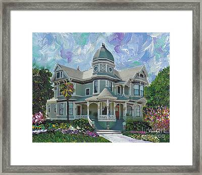 Alameda 1893  Queen Anne  Framed Print by Linda Weinstock