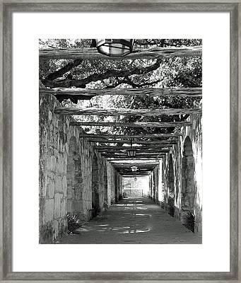 Alamo Corridor Framed Print by Debbie Karnes