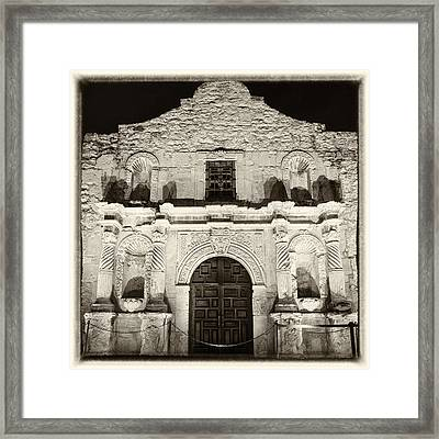 Alamo Entrance Framed Print