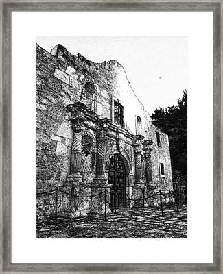 Alamo In Sunset Framed Print