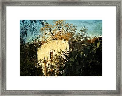 Alamo Mission Framed Print by Iris Greenwell